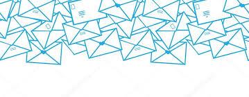 envelope border pattern postal letters envelopes line art horizontal seamless pattern