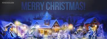 beautiful snowy merry christmas cover picture yoyo pics