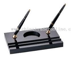 wholesale fountain pen with roller pen with acrylice desk pen set