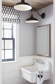 Kitchen Wall Sconce Shiplap Wainscoting Bathroom Farmhouse With Black Armed Wall