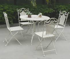 Ornate Metal Folding Bistro Chair Outdoor Decorative Vintage Folding Metal Wholesale Antique Gray