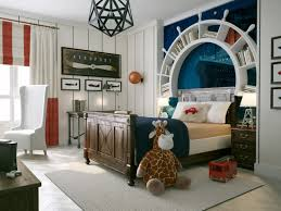 nautical inspired bedroom for boys with stripes comforter and