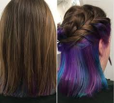 short hairstyles with peekaboo purple layer photos and apartments from world wide web colorful magical hair