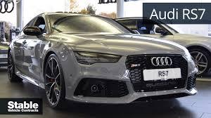 audi rs7 lease audi rs7 sportback in nardo grey walkaround