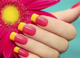 summer feelings pretty yellow nail art shefound