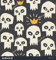 cute halloween pattern background hand drawn evil skulls seamless pattern stock vector 315276080