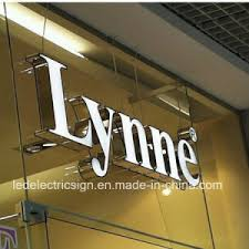 china outdoor led channel letters with shop front sign for