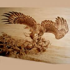 burn on wood dynasty orient arts wood burning eagle 3