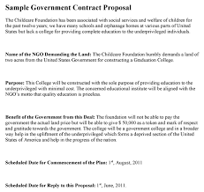 government contract proposal template