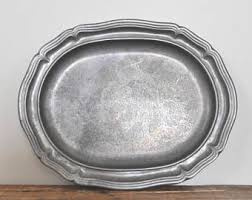 pewter platter pewter tray etsy