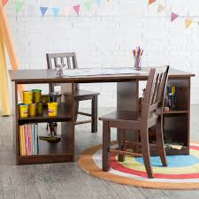 Kids Activity Desk by Classic Playtime Double Sided Activity Table With Chairs
