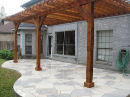Flagstone Patio With Pergola Custom Flagstone Patios Austin Texas Design And Build