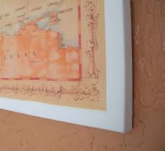 Canvas Tan World Contemporary Series Wall Map With Tan Oceans