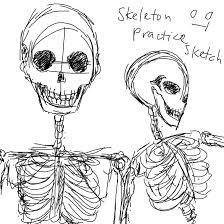 skeleton practice sketch 1 by mimidan on deviantart