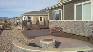 Building Decks And Patios by Landscape Patio Fire Pit And Deck In Broomfield Don King