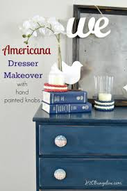 diy americana dresser makeover in red white and blue h20bungalow