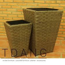 wicker planters archives tdang wicker furniture concrete