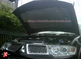 All New Pajero Sport List Kap Mobil Depan Molding Chrome peredam panas kap mesin peredam suara mobil