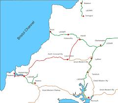 England Train Map by North Cornwall Railway Wikipedia