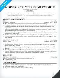 sample resume for business development sample resume for business business analyst resume example sample