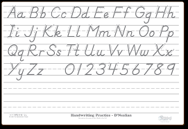 lined paper for writing practice dry erase boards factory direct from the markerboard people d nealian alphabet practice board