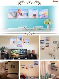 amazon com homemory beach painting on canvas framed 4 panels