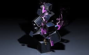 wallpaper cubes man smoke light shadow color hd picture image
