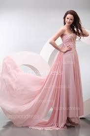 pink prom dresses gorgeous strapless beading flowers pleats draped