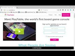 play table board game console playtable the console for tabletop games is in the works youtube