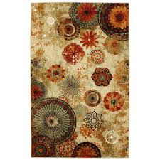 bazaar caravan medallion multi 7 ft 6 in x 10 ft area rug