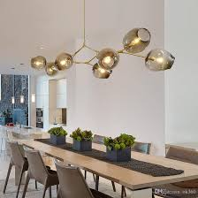 Modern Lights For Dining Room Adelman Globe Glass Pendant L Branching Modern
