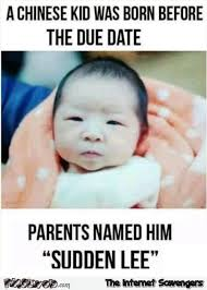 Chinese Meme - a chinese kid was born before the due date meme pmslweb