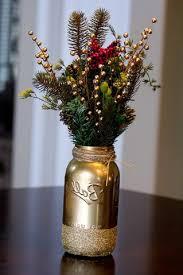 Diy Vase Decor Decoration Agreeable Diy Christmas Mason Jar Crafts Gold Berry