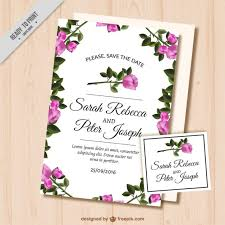 wedding invitations freepik wedding card with roses vector free