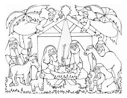 Printable Nativity Coloring Pages Coloringstar Free Printable Nativity Coloring Pages