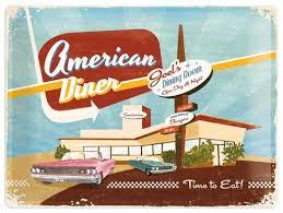 Shopamerica by Nostalgic Art Tin Sign American Diner 40x30 Shop America Babaimage