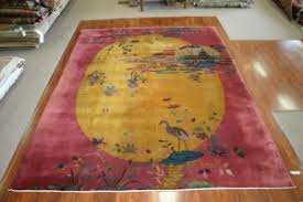 Nichols Chinese Rugs Art Deco Nichols Chinese Rug From The 1920s Handwoven Antique