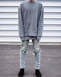mens light blue jeans skinny kanye west jeans pants high quality mens hip hop man skinny ripped