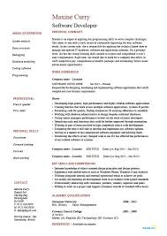 software engineer resume software developer resume exxle sle application development