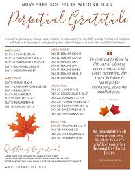 november scripture writing plan perpetual gratitude bible