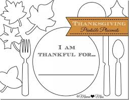 thanksgiving day activities for placemat thanksgiving and