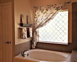 Ideas For Bathroom Windows Designs Amazing Bathroom Window Curtain Rod 124 Window Treatment
