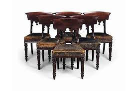 William Iv Dining Chairs A Set Of Six Channel Islands William Iv Mahogany Gothic Dining