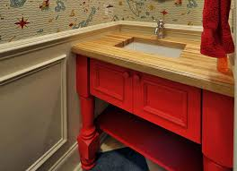 wood bathroom countertops by grothouse