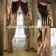 Jacquard Curtain Elegant Jacquard Curtain Attached Valance With Beaded Tassel Buy
