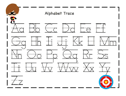 alphabet worksheets trace activity sheets for children