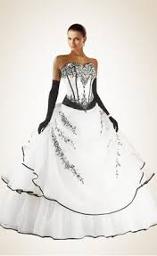 black and white wedding dress buy awesome beading embroidery black and white organza wedding