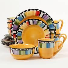dinnerware multi colored stoneware dinnerware sets multi colored