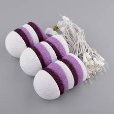 String Lights Balls by Diy Cotton Balls Fairy Light String 20 Purple Lavender And White
