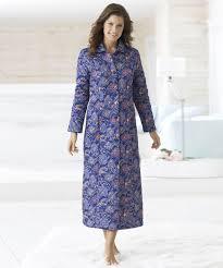 robe de chambre damart robe de chambre douillette ouatinée thermolactyl marine imprime